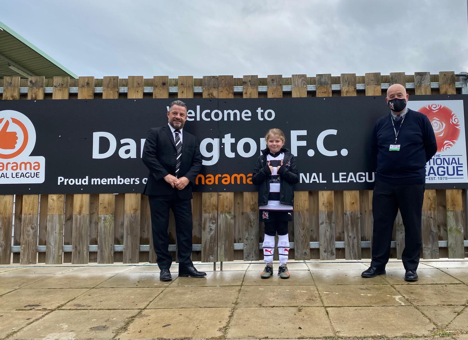 Quakers support Daisy's fundraising appeal! - News - Darlington Football  Club