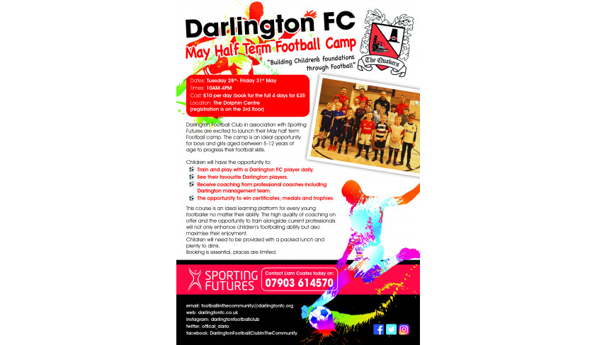 Come to our half term Football Camp!