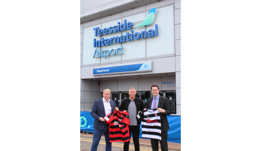 Teesside International Airport teams up with Darlington FC