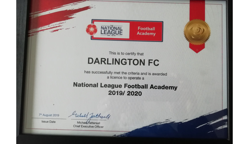 Quakers granted Academy licence by National League
