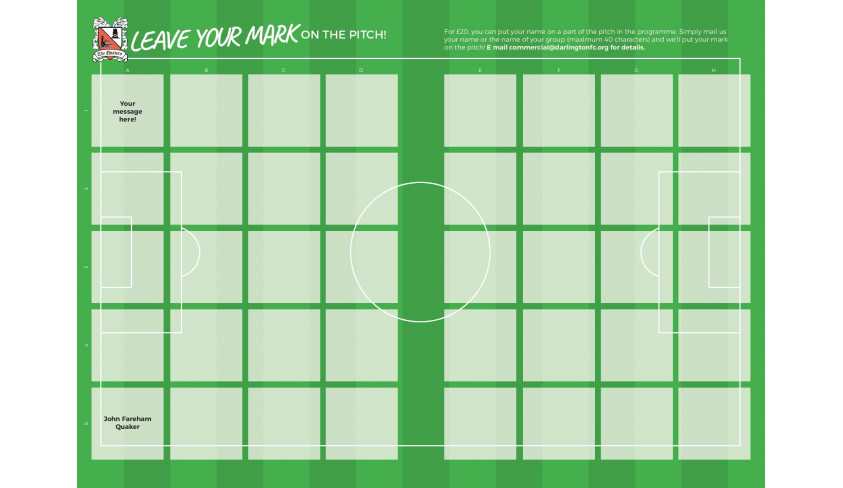 Leave your mark on the pitch!