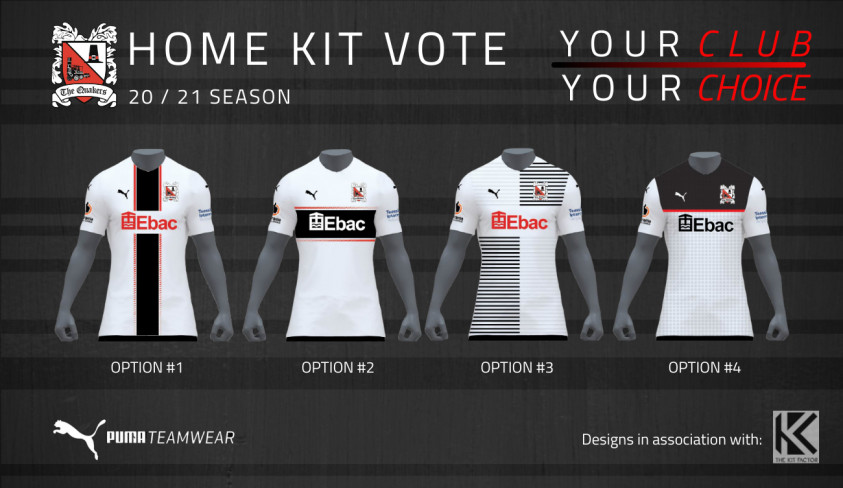 Vote for your choice of home shirt for next season