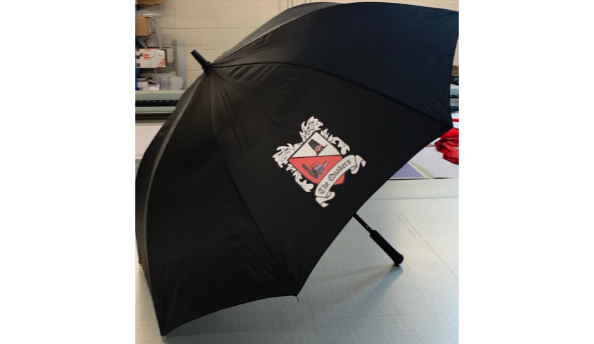 Buy a DFC umbrella for the wintry weather!