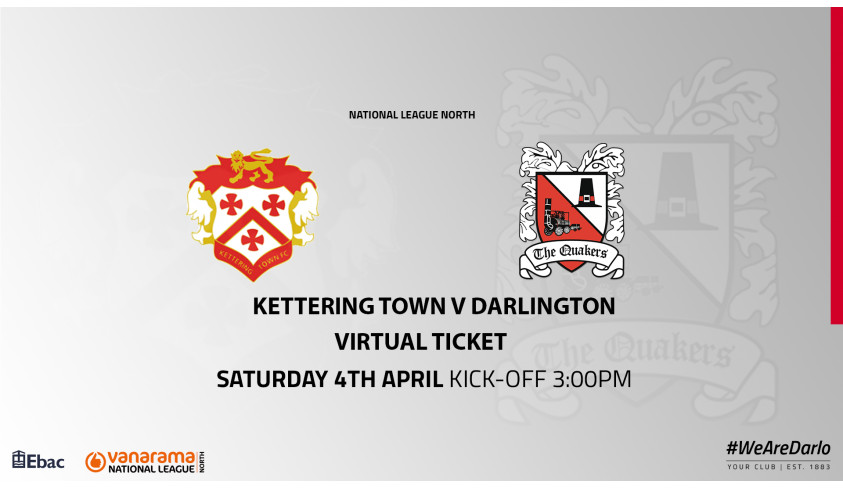 Virtual Ticket scheme continues for Saturday's away game at Kettering