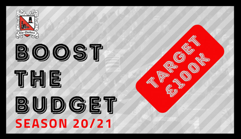 Boost The Budget 2020/21