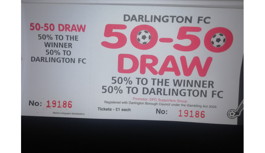 Virtual 50/50 draw winner