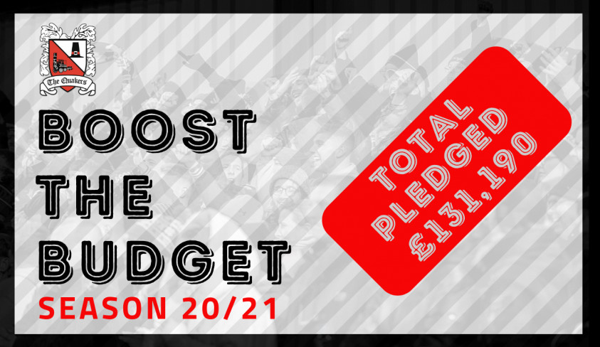 Darlo fans smash the £100,000 Boost the Budget target!