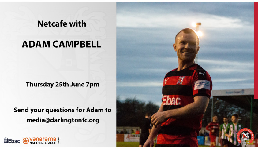 Adam Campbell talks about his career so far and his ambitions with Darlington