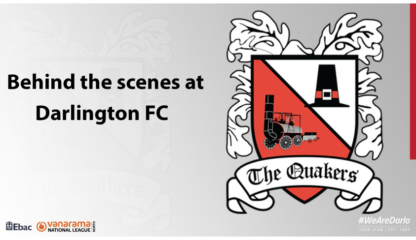 Behind the scenes at Darlington FC -- update 14