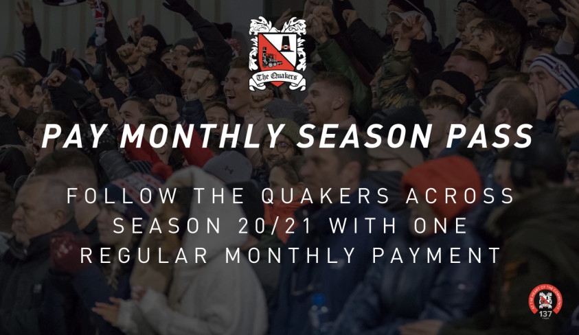 Pay Monthly Season Pass - A new way to follow your club