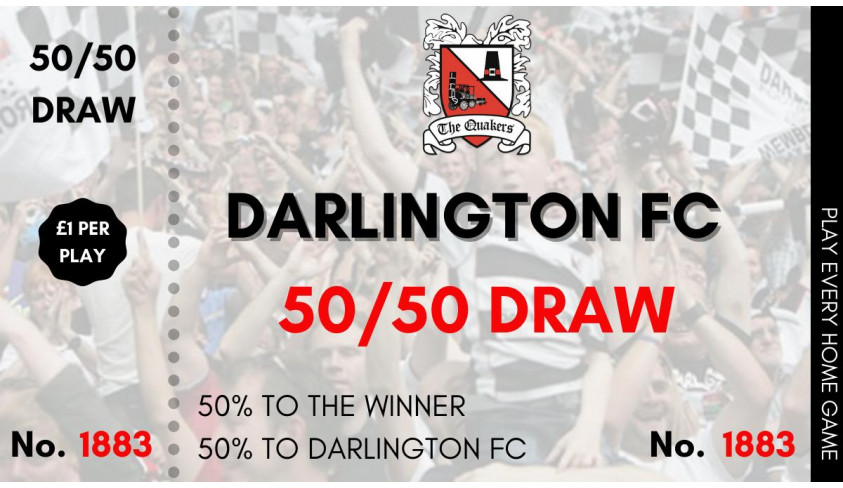 Darlington v Kidderminster Virtual 50/50 Draw