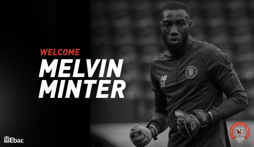 Quakers sign keeper Melvin Minter on loan