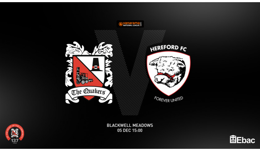 Hereford game re-arranged
