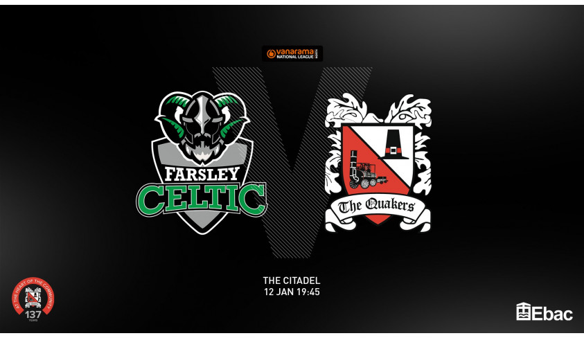 Quakers hoping to bounce back at Farsley
