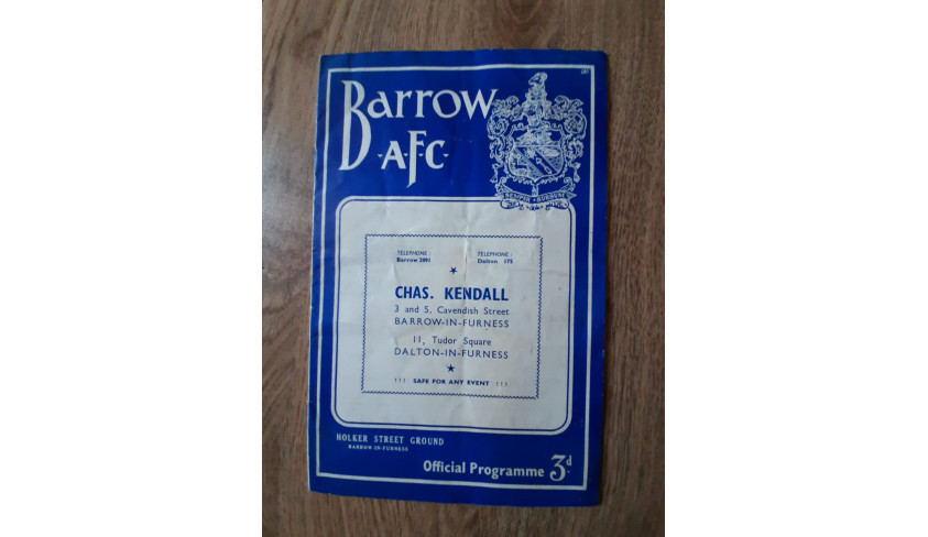Programmes from the 1954-55 season: Our FA Cup run