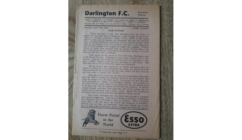 Programmes from the 1955-56 season -- part 5