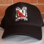 Adult Black Baseball Cap with Crest