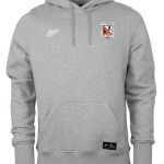 Avec Grey Marl Junior Essentials Fleece Hoody with Crest