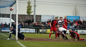 Nathan Cartman scores against Bamber Bridge