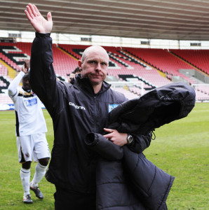 Craig Liddle at Darlo's last game at the Arena