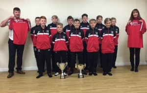 Darlington Under 13s with their tracksuits