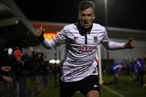 Liam Hardy celebrates the winner