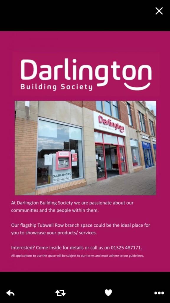 Darlington Building Scoiety shop