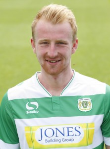 Mark Beck in his Yeovil Town strip  -