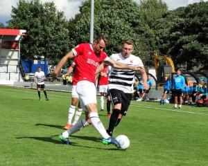 David in action at Salford
