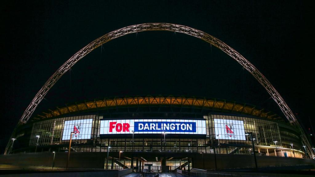19th May Darlington FC lights up Wembley