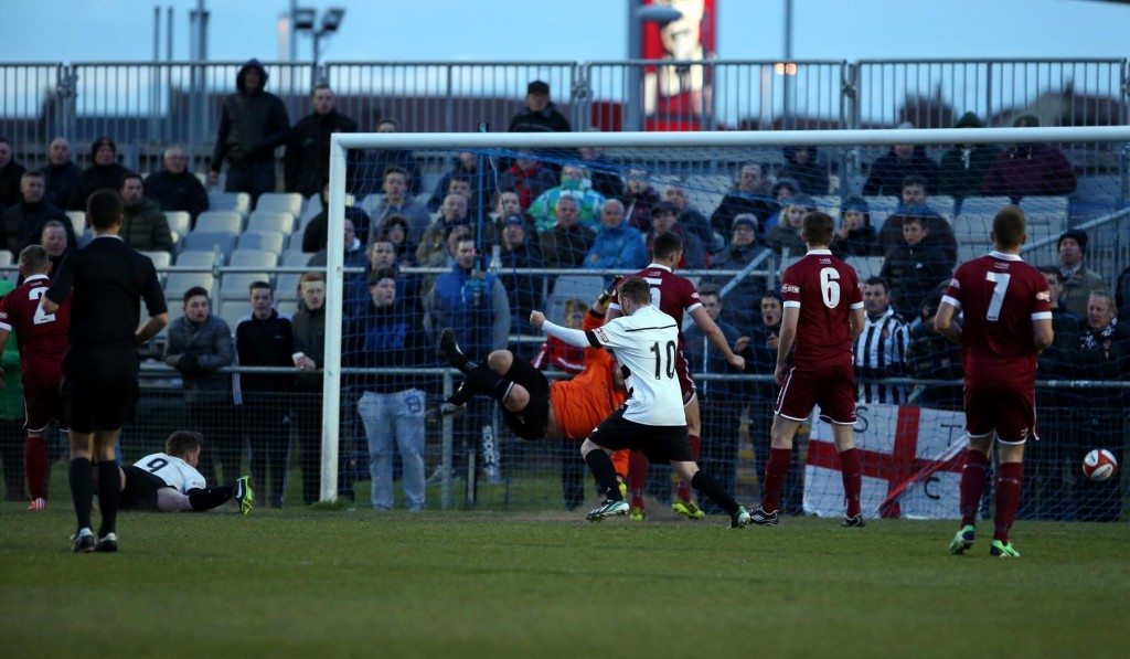 Graeme Armstrong scores against Spennymoor