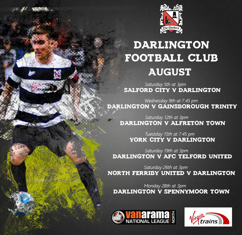 August 2017 Fixtures