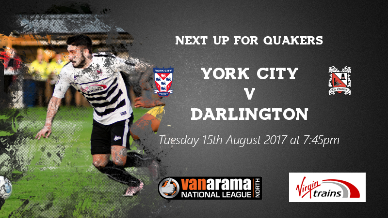 13th August York City Next Up