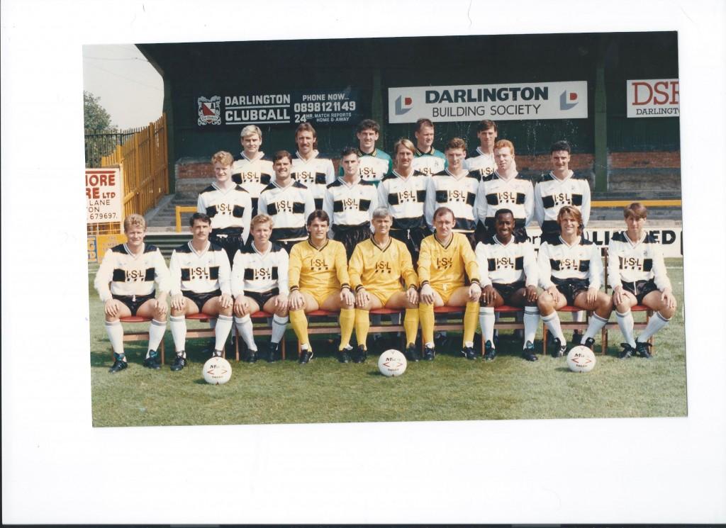 Darlington FC team pic 1990-91