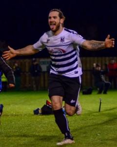 Reece Styche celebrates after scoring v Harrogate in Trophy