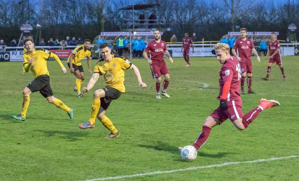James Caton sets up the winner at Leamington