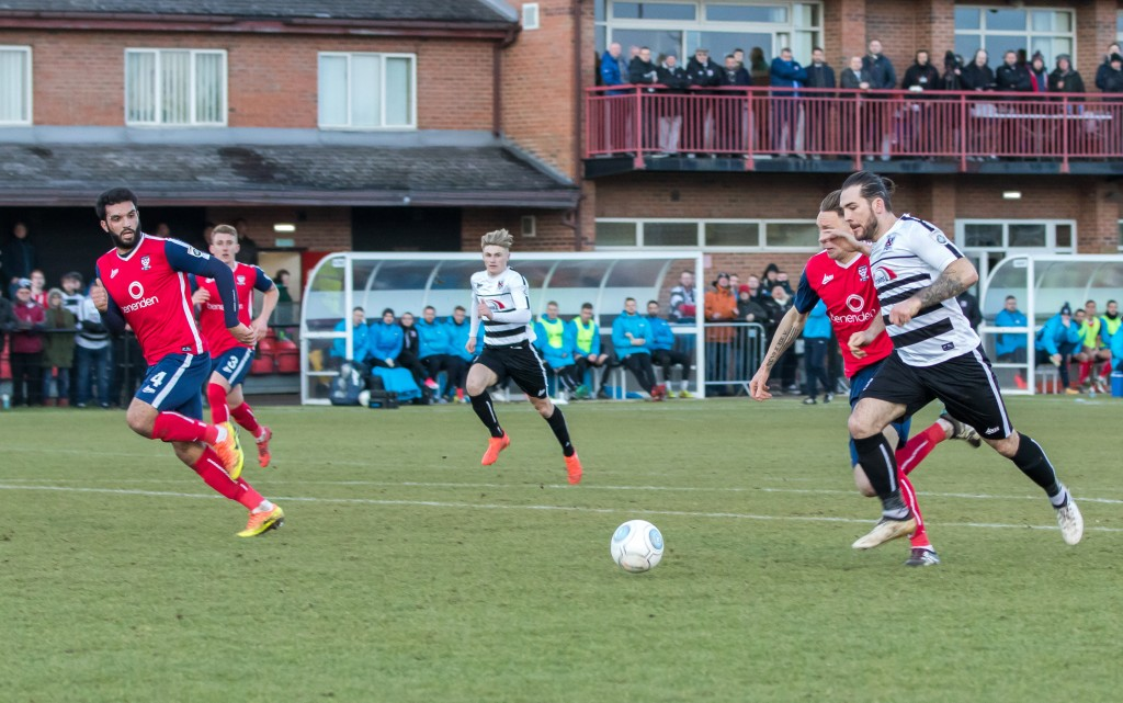 Reece Styche about to score v York