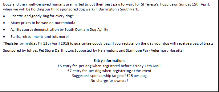 14th March St Teresa's Bark in the Park