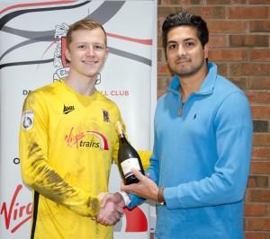 Aynsley Pears man of the match award 1