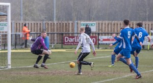 David Syers about to score the first