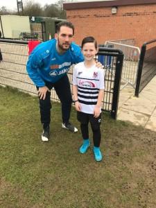 Mascot Thomas Webb with Reece Styche