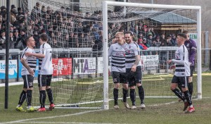 The lads celebrate David Syers' opener