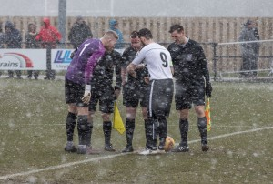 The blizzard starts just before kick off