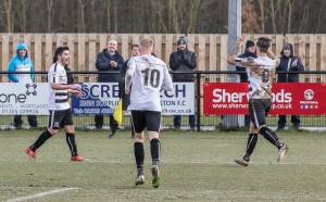Celebrations after Josh Gillies gets the fifth