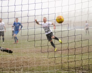 Stephen Thompson scores the second from the spot