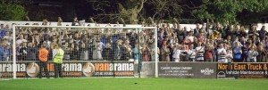 S35 Darlo fans celebrate the win
