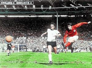 geoff hurst scores the fourth v West Germany