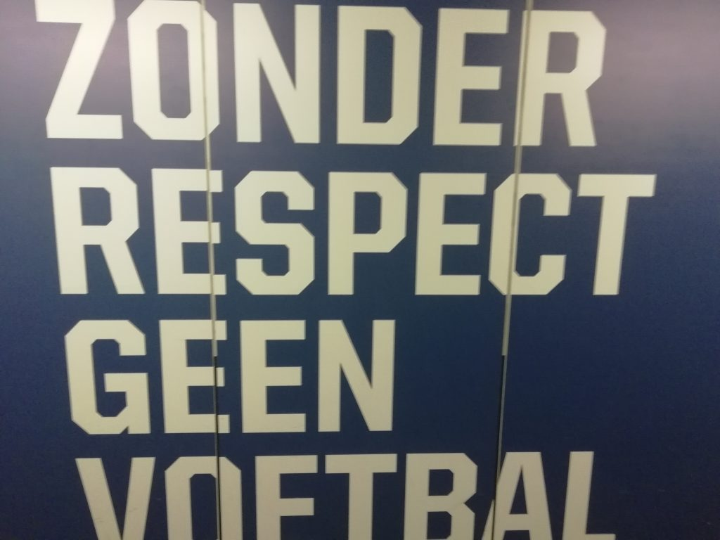 """No football without respect"""