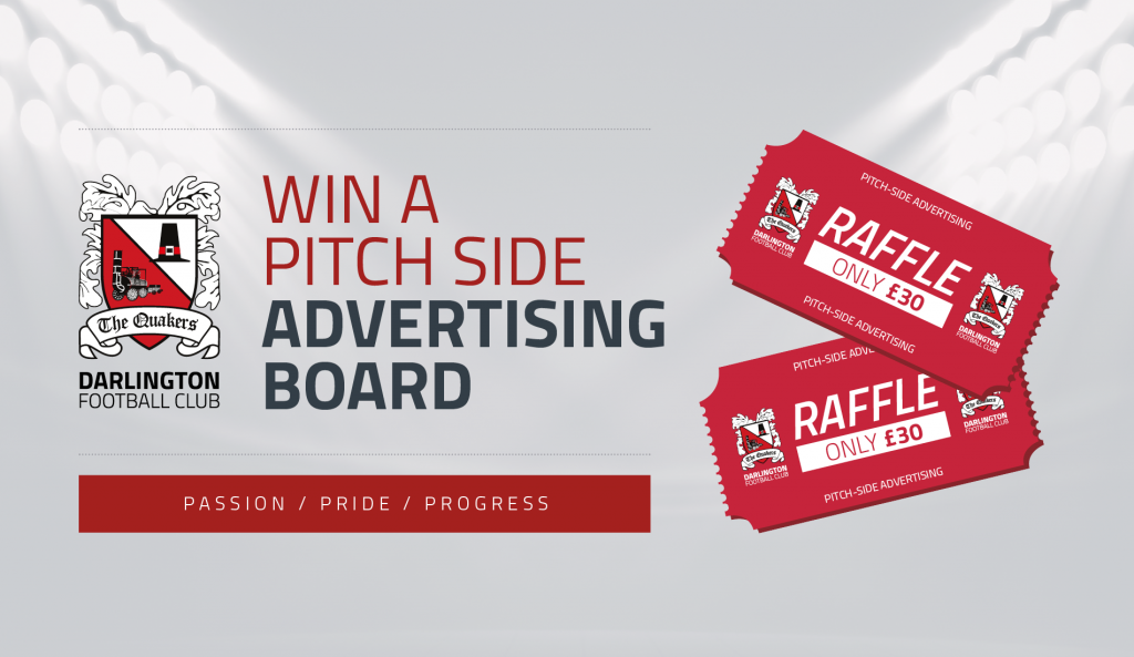 Win a pitchside advertising board raffle
