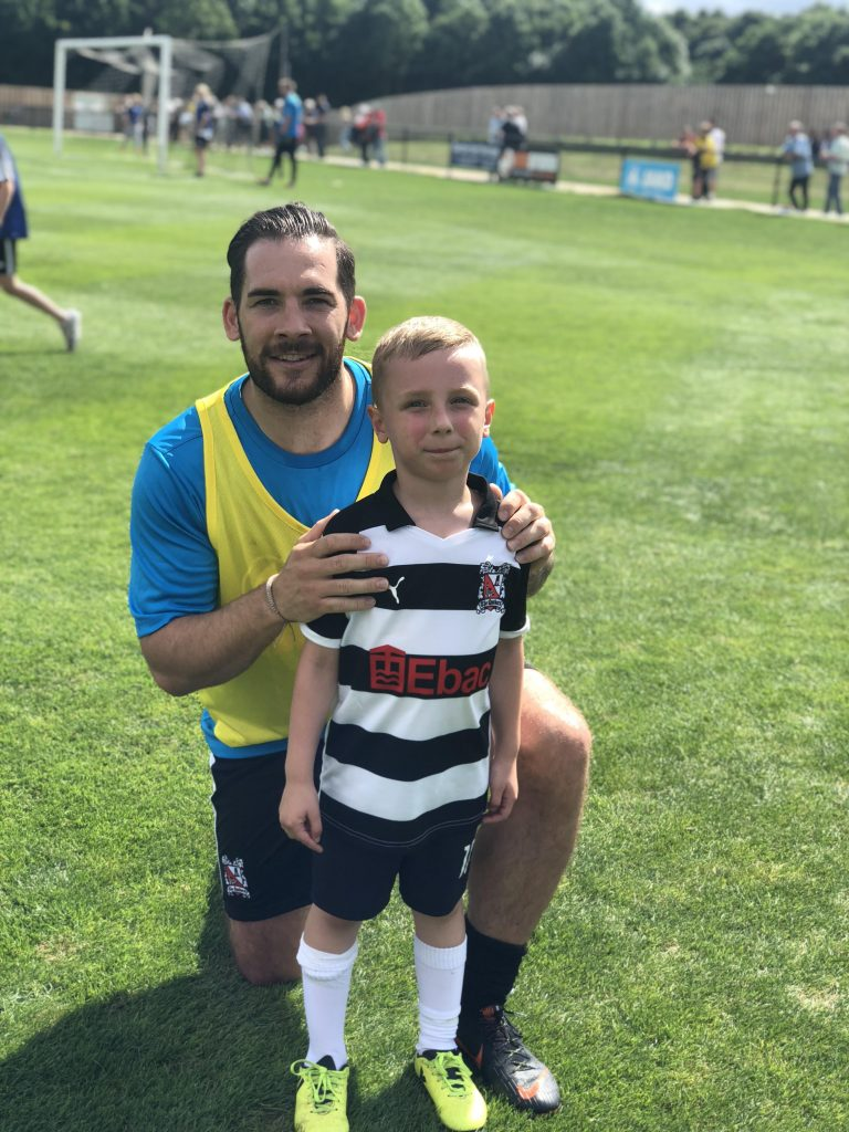 6th August Reece Styche and mascot Harry